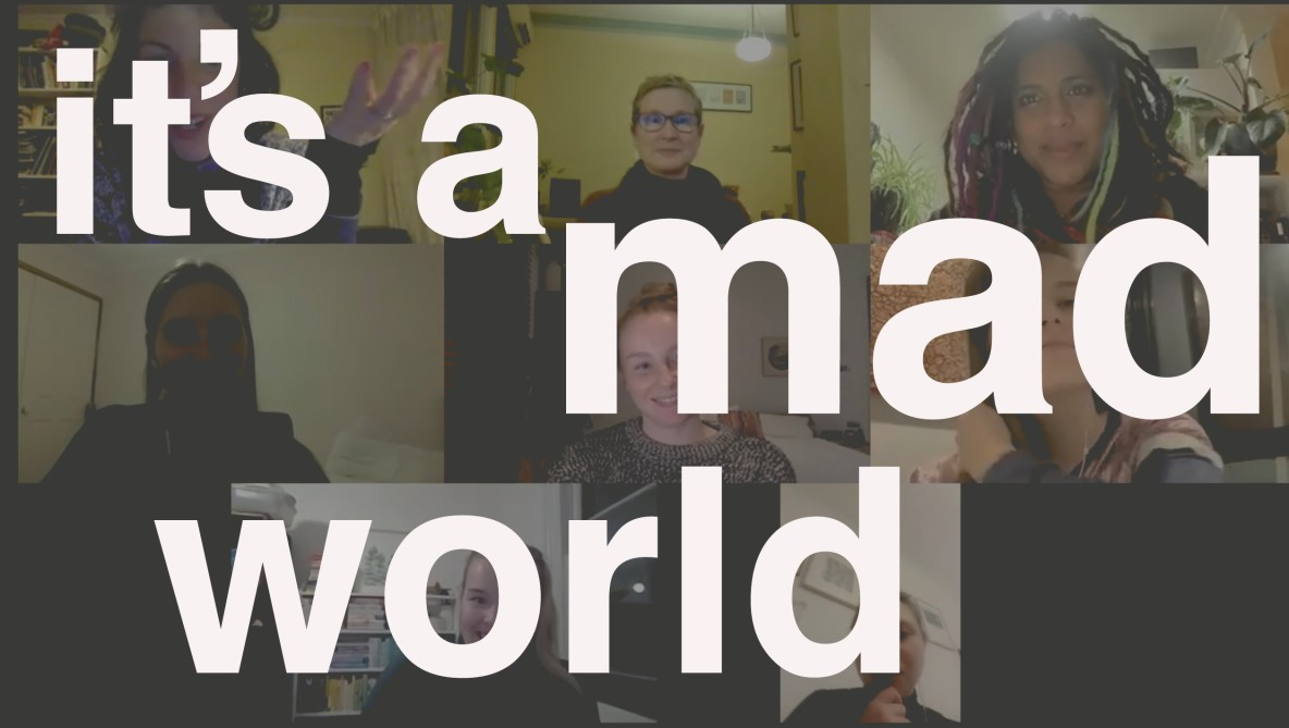 A photo of six participants in the It's a Mad World Project