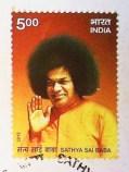 Postal stamp Sai Baba released on Nov 23,2013