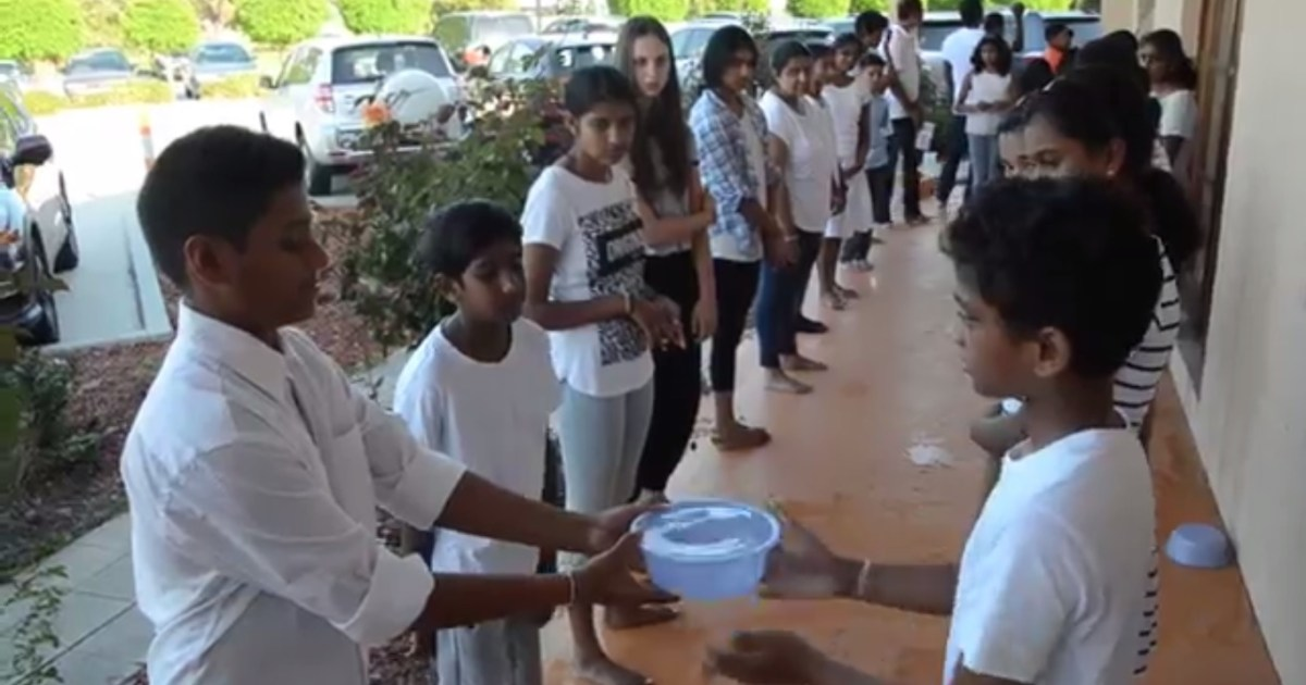 Mindful Game - Passing around a bowl of water