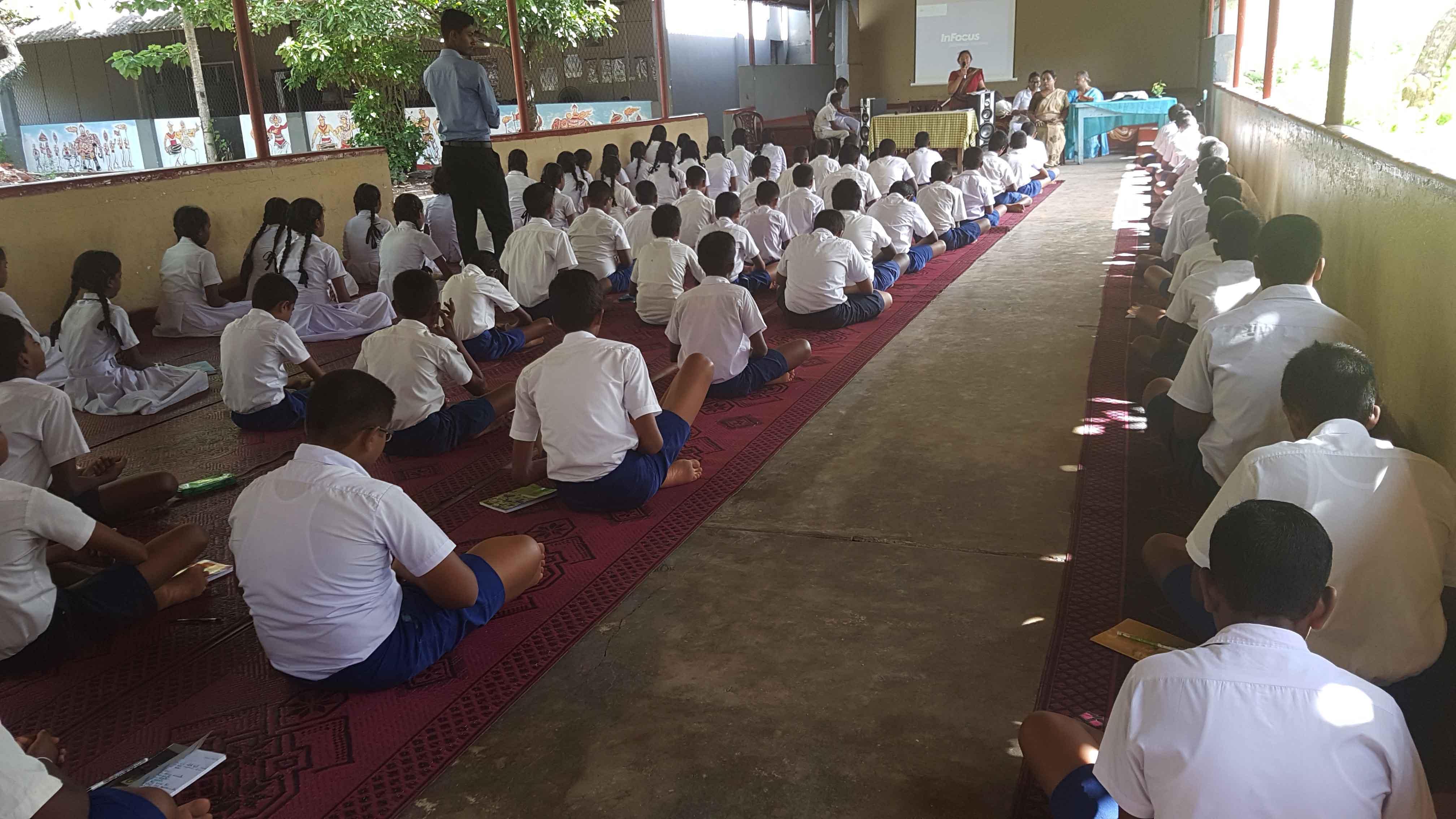 WP/PILI /S.DE S. JAYASINGHE M.M.V Students experienced Mindfulness