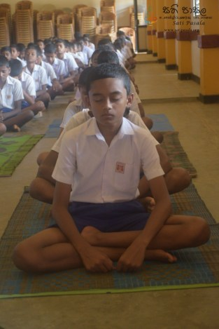 Thawalama Vidyaraja National School Grade 8 & 9 Students Practiced Mindfulness (20)