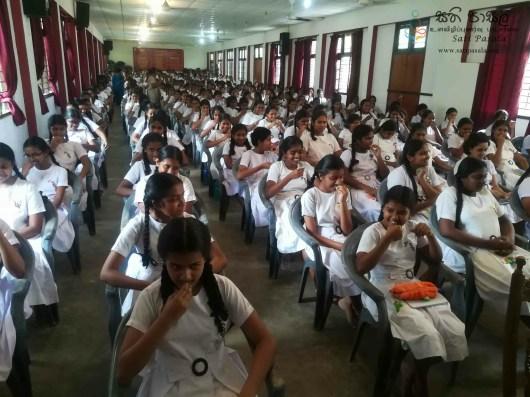 Mindfulness Programme at Sumana Balika Vidyalaya, Ratnapura (23)