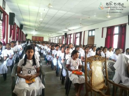 Mindfulness Programme at Sumana Balika Vidyalaya, Ratnapura (4)