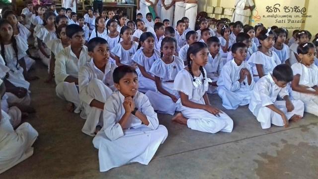 Sati Pasala Mindfulness Programme for Sri Dharmodaya Sunday School