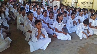 Sati Pasala Mindfulness Programme for Sri Dharmodaya Sunday School