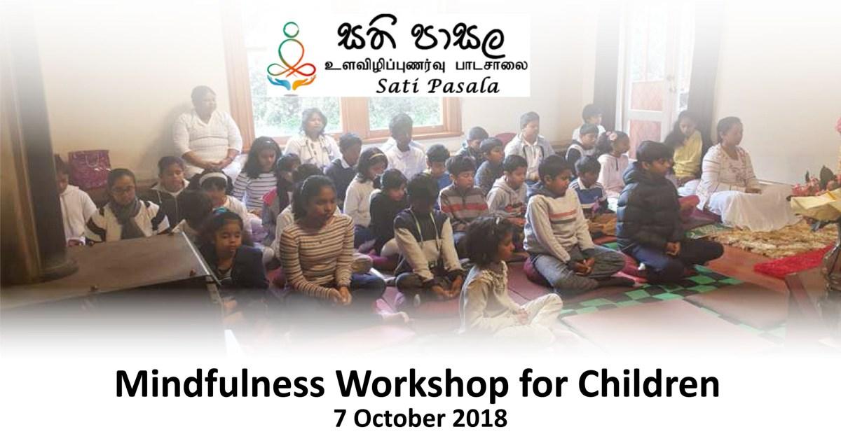 Workshop on Mindfulness held on 7 October 2018 in Wellington, New Zealand