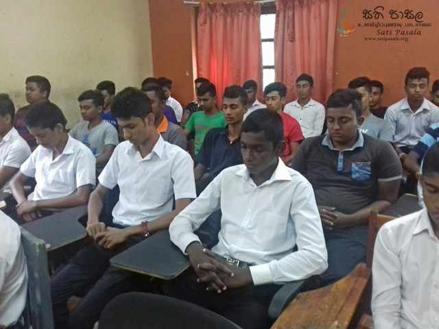Mindfulness for Vocational Training Authority Wegiriya Centre, Hodiyadeniya