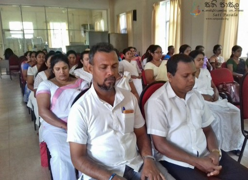 Sati Pasala Mindfulness Programme at Harispattuwa District Secretariats office