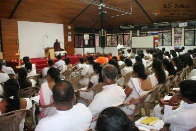 Sati Pasala Programme for Dhamma School Teachers - 19th January 2019