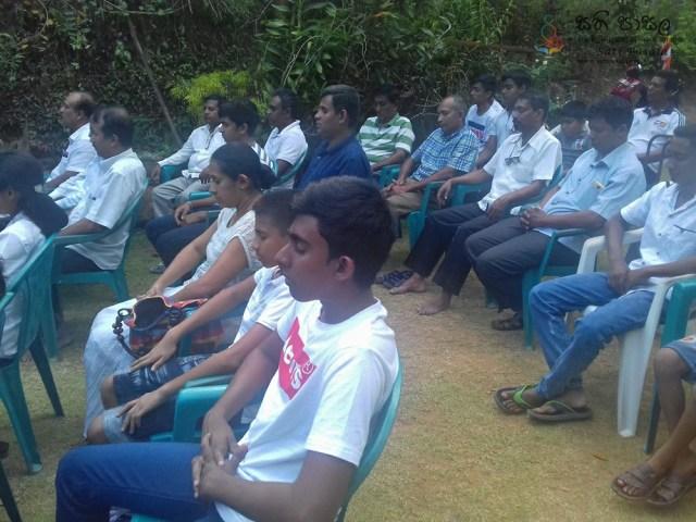 Sati Pasala Mindfulness Programme for Pragathi Society, Mawanella
