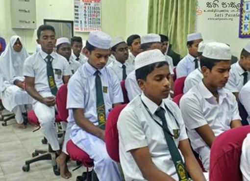 Sati Pasala Mindfulness Programme at BD/SIR Razik Fareed Maha Vidyalaya, Bandarawela