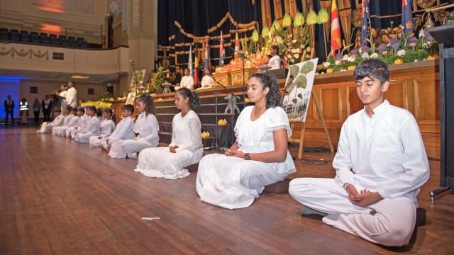 Sati Pasala Children at the UN Day of Vesak Celebrations (English)
