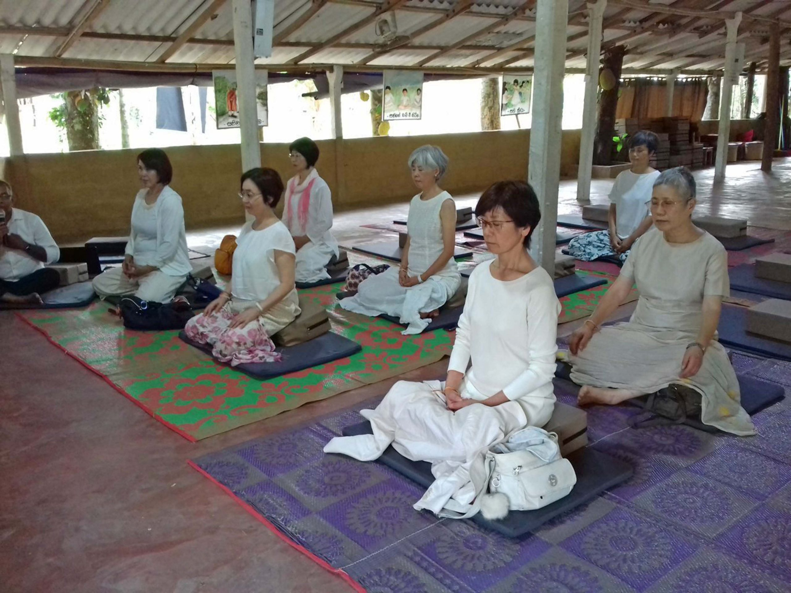 Mindfulness Program for Japanese Visitors at Kaduwela Sati Pasala