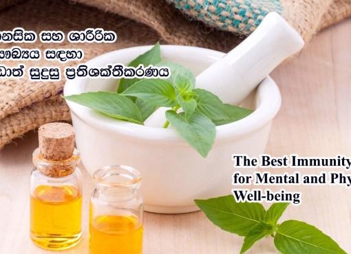 මානසික සහ ශාරීරික සෞඛ්යය සඳහා වඩාත් සුදුසු ප්රතිශක්තීකරණය The Best Immunity for Mental and Physical Well-being
