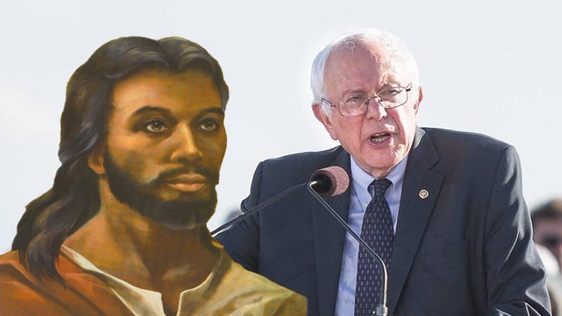 "Jesus: ""It's Cute When Christians Think Bernie's Too Socialist"""