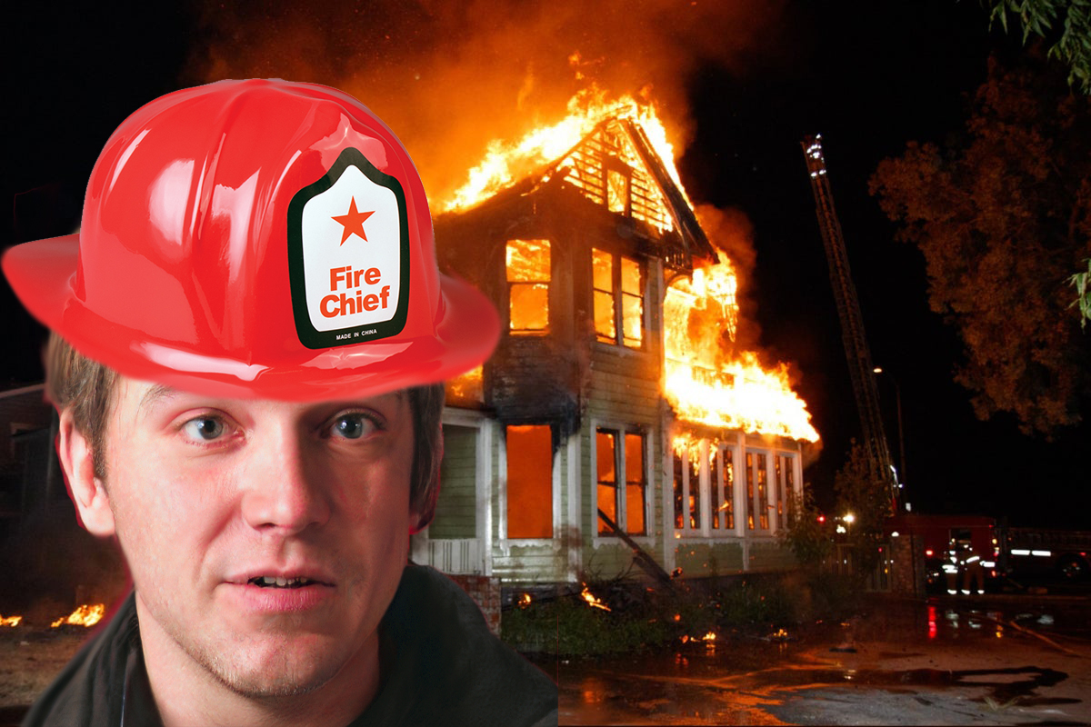 Fire Chief Robert T. Moron Suggests Without Smoke Alarms There'd Be No Arson
