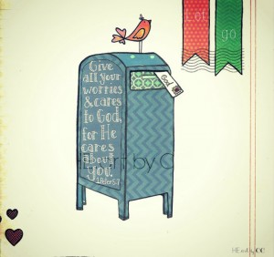 Whimsical Bible verse print from HE art by CC