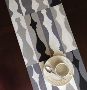 Modern Print Table Runner from The Clever Seam