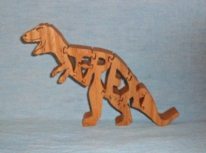 TRex Wooden Puzzle from Hueby's Scrollsaw Art