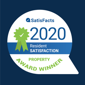 Quincy Commons 2020 Resident Satisfaction Award by Satisfacts