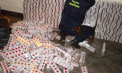 Traficante de ţigări la vama Halmeu