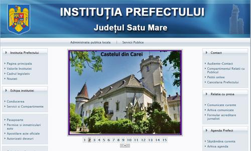 Prefectura Satu Mare şi-a lansat azi noul site