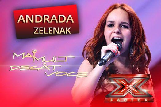 La taifas cu Andrada Zelenak, sătmăreanca de la X Factor România 2014