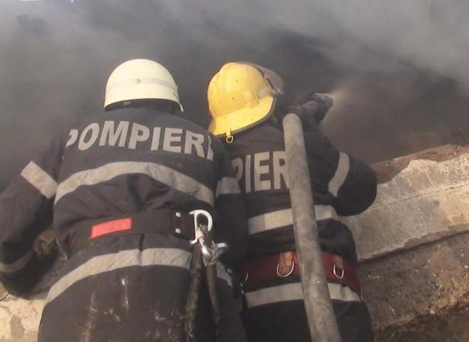 Incendiu la o fermă din județ. Pompierii au intervenit de urgență