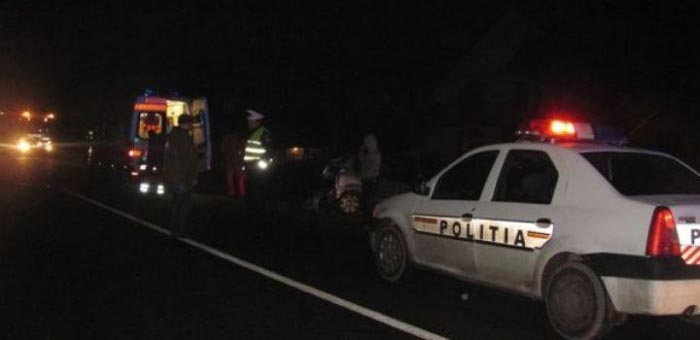 Accident cu doi răniți provocat de un șofer mort de beat
