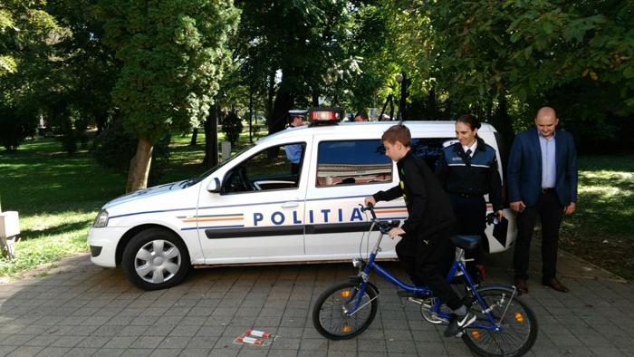 Un concurs de biciclete a încheiat Săptămâna Prevenirii Criminalității la Satu Mare