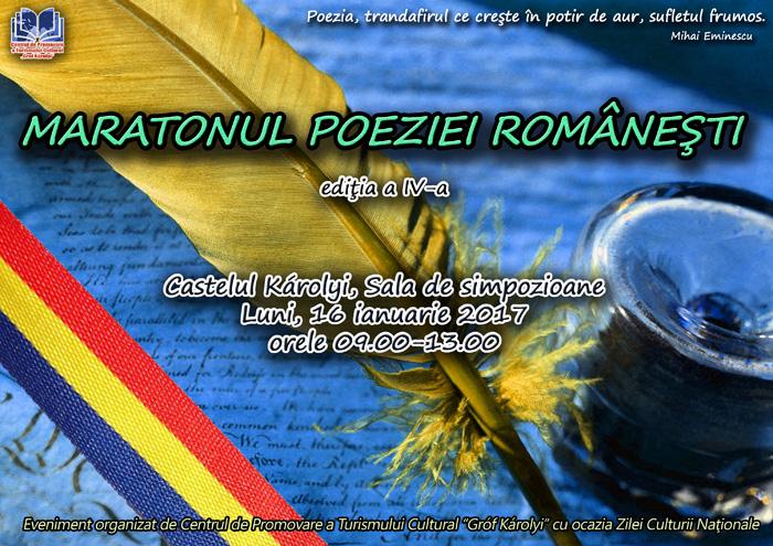"""""""Maratonul poeziei românești"""" la a 4-a ediție"""