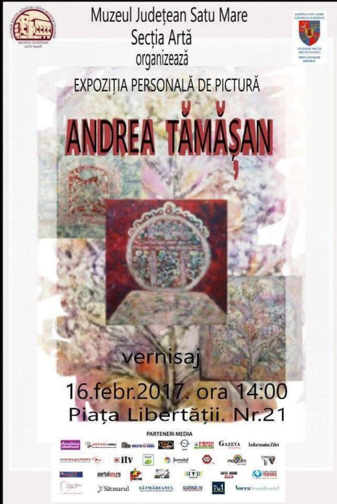 Andrea Tămășan își expune lucrările la Muzeul de Artă