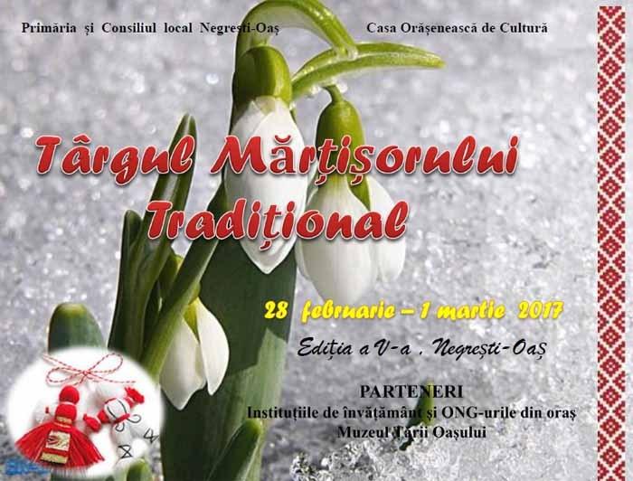 Târgul Mărțișorului Tradițional, revine în Negrești-Oaș
