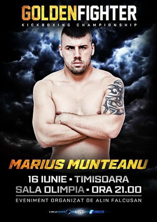 Marius Munteanu va lupta în Gala Golden Fighter de la Timișoara