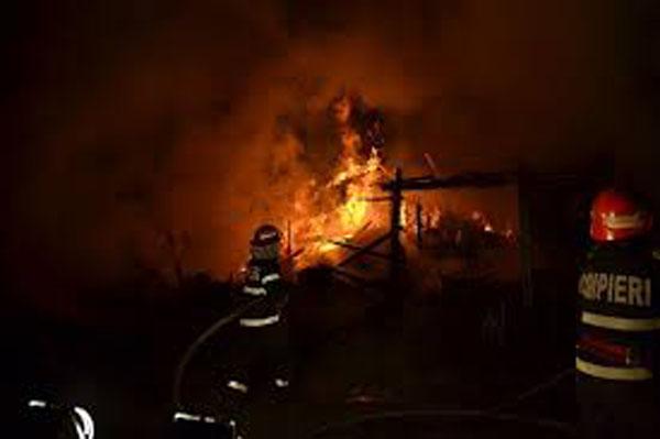 Incendiu la o șură din Sâi. 20 de animale au ars de vii
