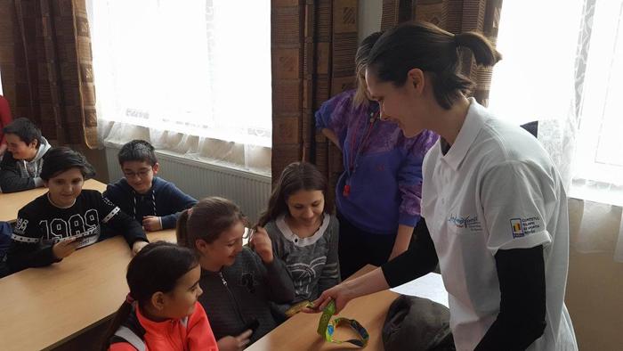 Campioană olimpică, oaspetele unei școli din Satu Mare. Vezi detalii (Foto)