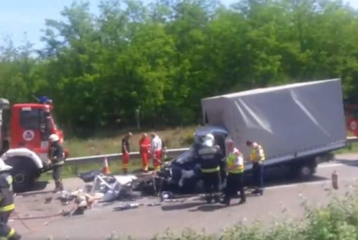 Teribil ! Un nou accident mortal cu români, pe o autostradă din Ungaria (Foto)