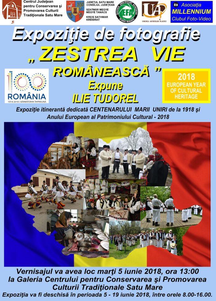 "Zestrea vie romaneasca. Expozitie dedicata ""Centenarului Marii Uniri"""