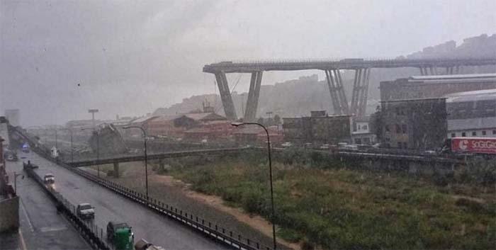 Doi romani au fost găsiti morti in urma prabusirii podului din apropiere de Genova (Foto&video)