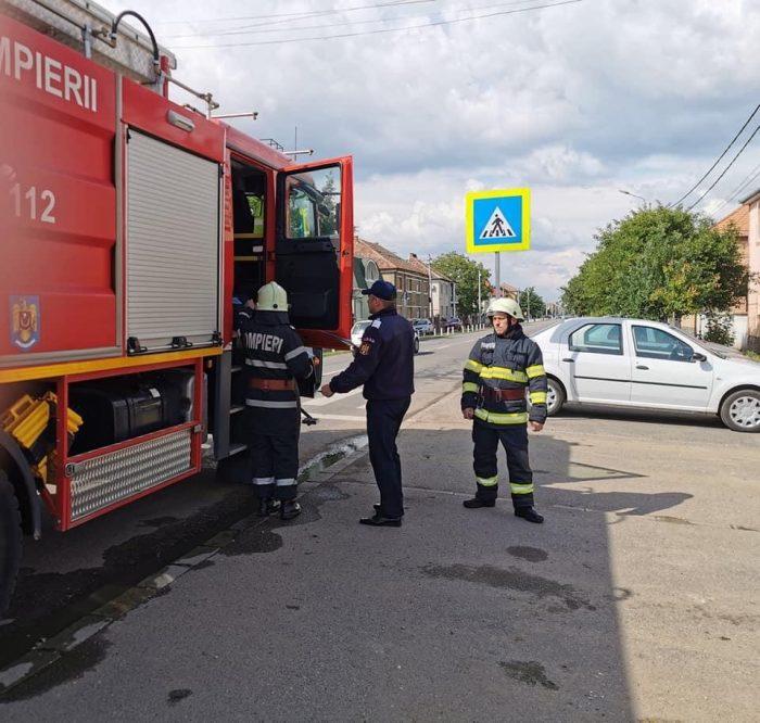 Scurgeri de gaze pe strada Barițiu. Pompierii în alertă