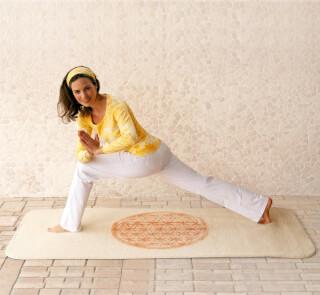 tapis de yoga en laine fleur de vie