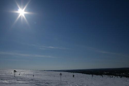 Aurinko Iisakkipäällä huhtikuussa 2008