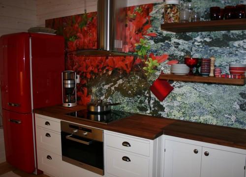 Kuva keittiöstä ja keittiössä