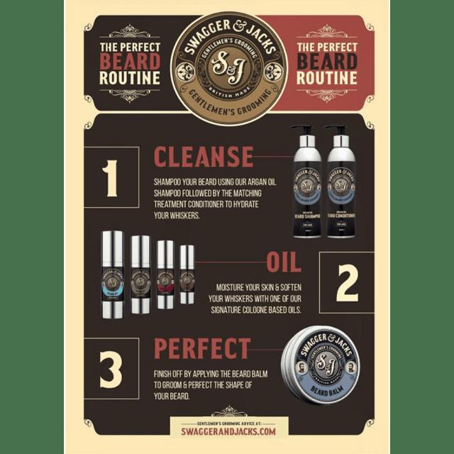 Beard care routine
