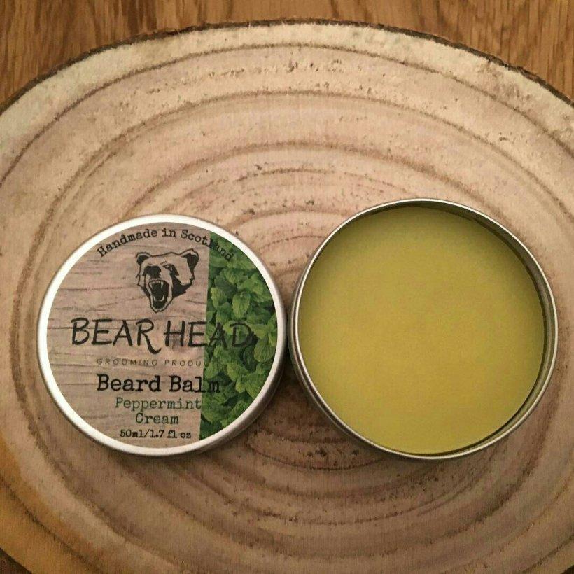 Bear Head 'Peppermint Cream' Beard Balm