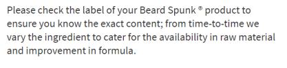 Beard spunk