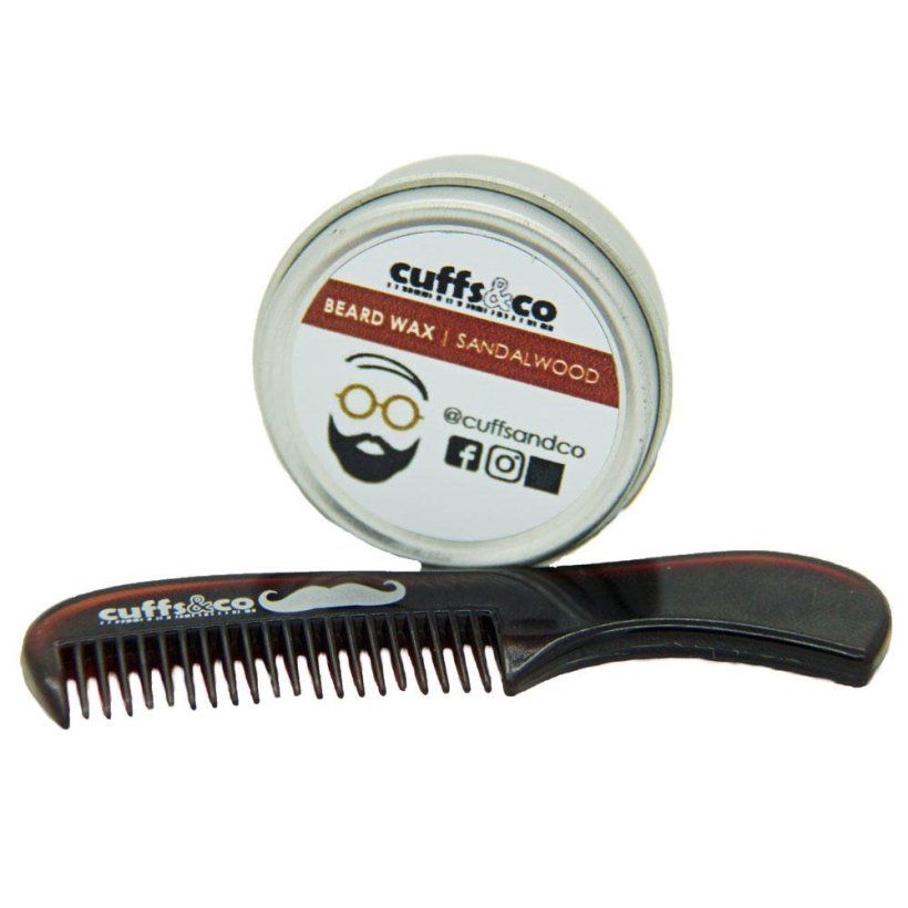 Review of Cuffs & Co Beard and Moustache Wax & Comb Set