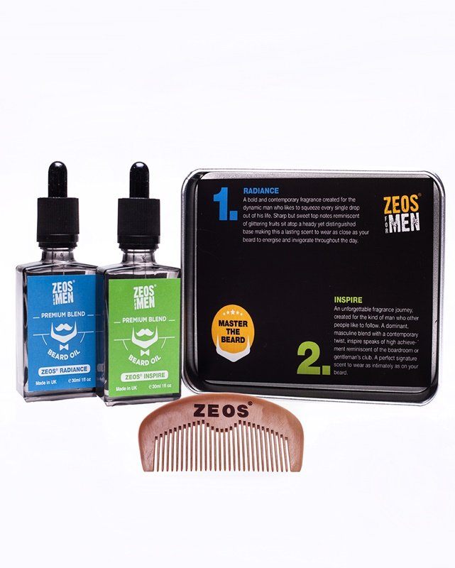 ZEOS For Men Premium Beard Lover Gift Pack