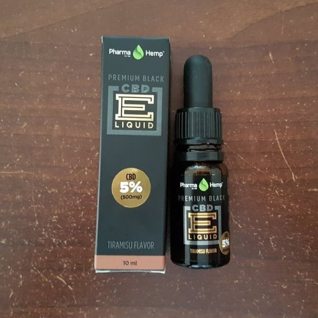 Review of the Pharmahemp Tiramisu CBD Vape oil from For The Ageless