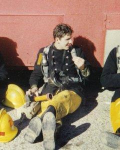 Firefighter BA training RAF Manston Chalk Tunnels Ramsgate
